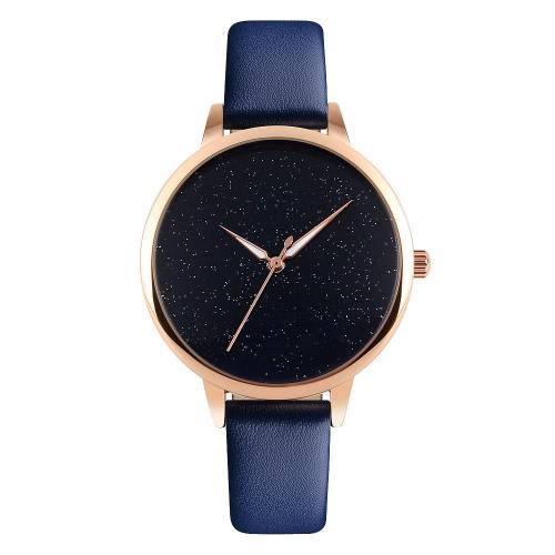 SKMEI Super-Einfachheit Chic Luxus 3ATM Tägliches Wasser-beständige Art und Weise Frauen-analoge Uhr Leuchtzeiger elegante einfache Armbanduhr für die Dame