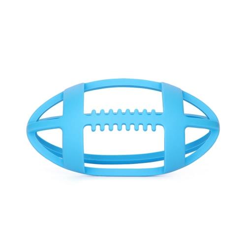 Infantil lindo en forma de Rugby BPA libre de los niños de silicona Massager dentición diente bebé del entrenamiento Teether regalo de los juguetes para niños pequeños