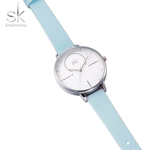 SK 2017 Fashion Simplicity Quartz Women Casual Wristwatch Water-Proof PU Strap Ladies Dress Watches Feminio Relogio