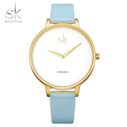 SK 2017 Fashion Simplicity Quarz Casual Armbanduhr Wasserdicht PU Strap Damen Uhren