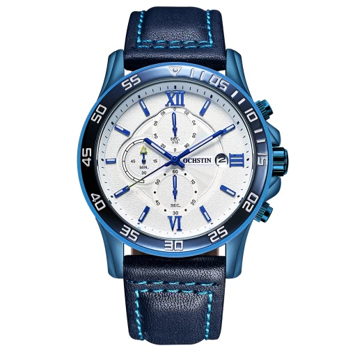 OCHSTIN 068A Reloj de cuarzo luminoso de estilo militar para hombre