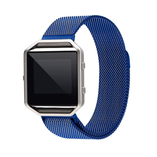 Banda para Fitbit Blaze reloj 40 mm de acero inoxidable de malla de reloj banda marco hebilla magnética Milanese correa de reemplazo para Fitbit Blaze Fitness Watch Negro
