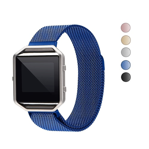 Band for Fitbit Blaze Watch 40mm Stainless Steel Mesh Watch Band
