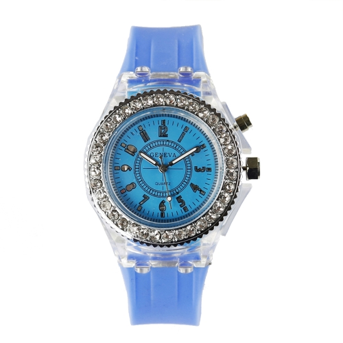GINEBRA Fashion LED Retroiluminación Quartz Women Watch