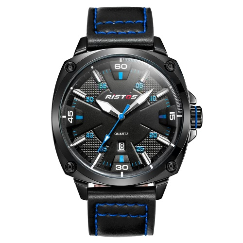 RISTOS 2017 Moda hombres luminosos de estilo militar hombres Reloj de cuarzo hombres impermeables reloj de hombre casual Reloj Masculino Relogio + Caja