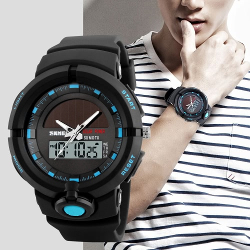 SKMEI 5ATM relógio digital resistente à água