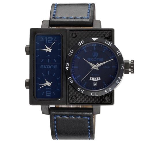 Reloj impermeable de los hombres del reloj del reloj 3ATM del cuarzo del deporte de SKONE Reloj masculino