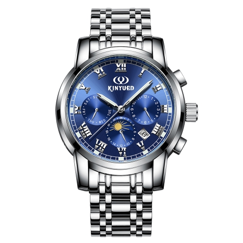 KINYUED Business Watch 3ATM Water-resistant Mechanical Automatic Watch Luminous Men Wristwatches Male Calendar