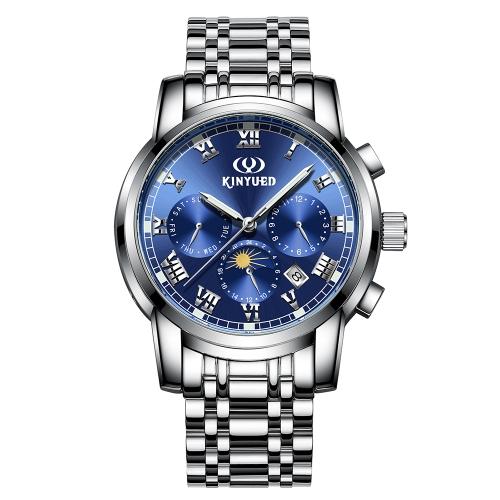 Reloj de negocio KINYUED 3ATM Reloj automático mecánico resistente al agua Relojes luminosos de hombres Reloj Hombre