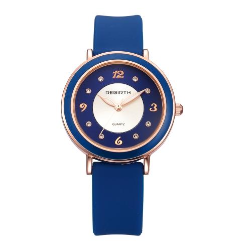 REBIRTH Fashion Casual Quartz Watch Life Water-resistant Watch Women Relógio de pulso Feminino