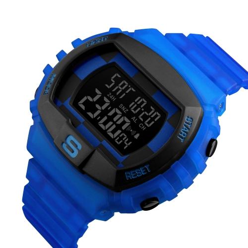 Reloj digital deportivo SKMEI 5ATM Reloj resistente al agua para hombres Reloj retroiluminado masculino Relogio Musculino