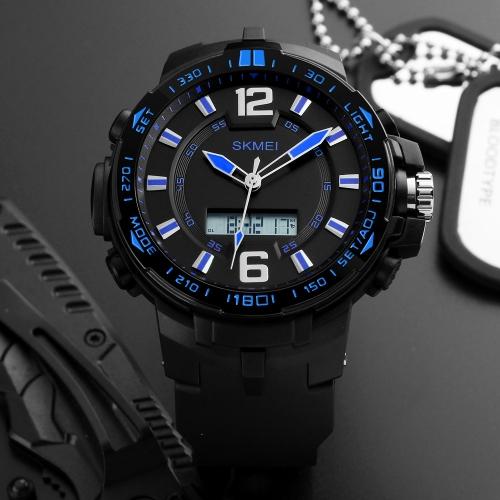 SKMEI Sport Zegarek cyfrowy 5ATM Zegarek męski wodoodporny Podświetlany Zegarek ręczny Mężczyzna Relogio Musculino Chronograph