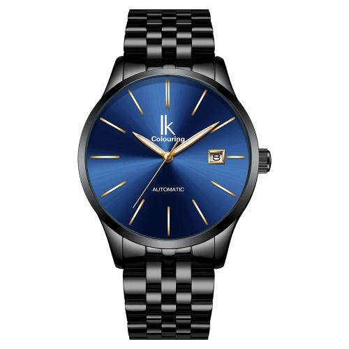 IKColouring Business Reloj mecánico automático Reloj de pulsera resistente al agua para hombres Reloj de pulsera masculino Calendario