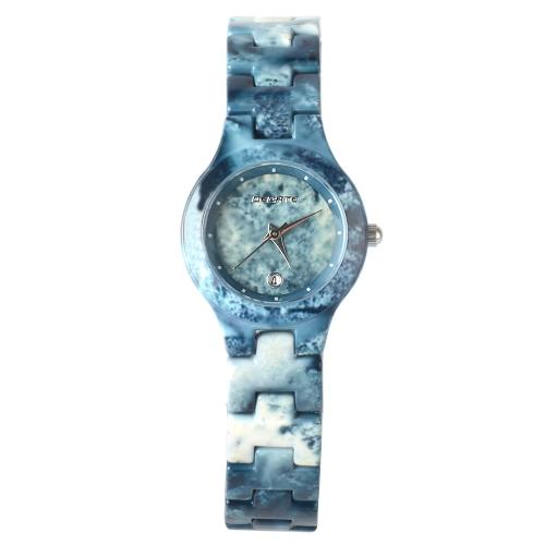 BEDATE Fashion Casual Quartz Watch 3ATM Water-resistant Watch Mujeres Relojes de pulsera Mujer Calendario
