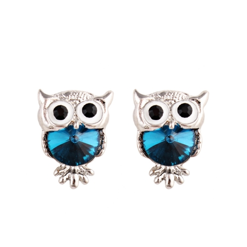 Moda Naughty Owl Crystal Rhinestone Sparkle Cubic Zirconia Ear Studs Pendientes Joyería de las mujeres