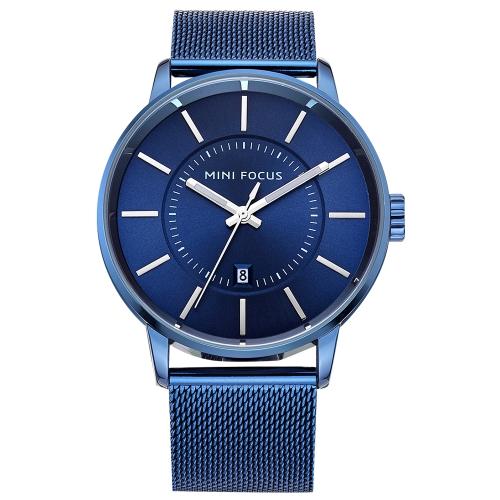 MINI FOCUS Relojes de acero inoxidable para hombre de moda Cuarzo 3ATM Reloj de pulsera para hombre casual luminoso resistente al agua