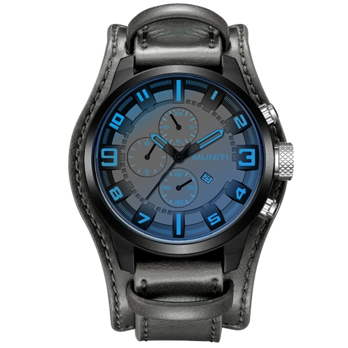 MUNITI Fashion Sport Men Watch Life Orologio da polso al quarzo impermeabile resistente all'acqua Relogio Musculino