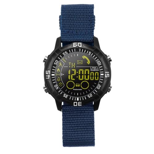 Reloj deportivo Smart Watch Watch para iOS 7.0 Reloj inteligente para Android 4.3 Fitness Tracker BT 4.0 Reloj SmartWatch Podómetro Cronómetro