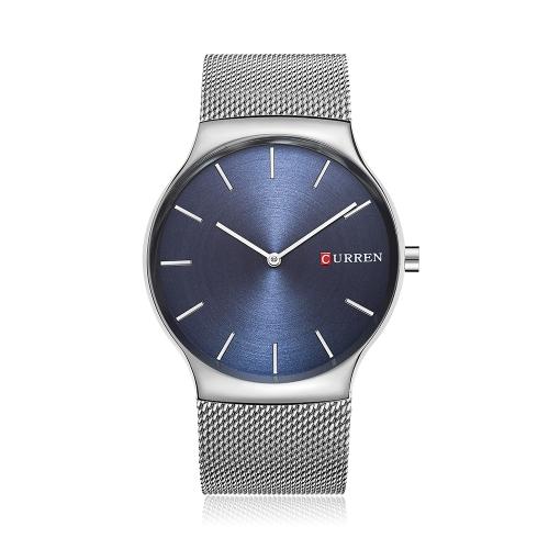 CURREN Relógios de luxo de luxo em aço inoxidável