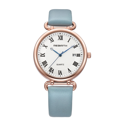 REBIRTH Fashion Women Watches 1ATM resistente al agua de cuarzo casual Simple Woman reloj de pulsera
