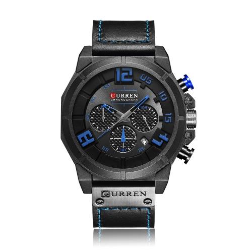 Relojes CURREN 8287 Fashion Sport Genuine Leather Men