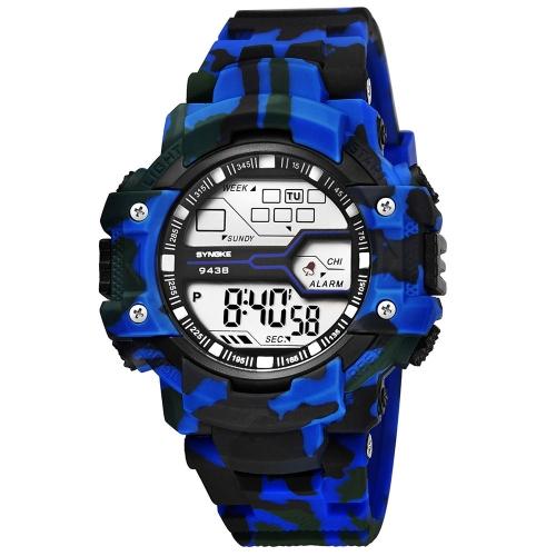 SYNOKE Moda Sport Mężczyźni Zegarki 3ATM wodoodporny Zegarek elektroniczny Luminous Man Zegarek Męski Relogio Musculino Chronograph