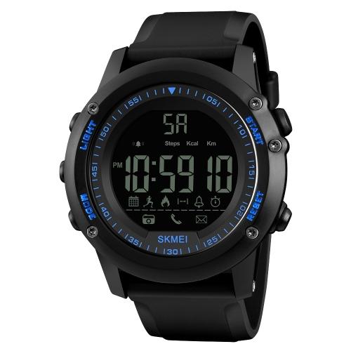 SKMEI Sports Casual Men Reloj inteligente Intelligent Male Watches 5ATM resistente al agua Call APP Reminder Cámara remota Sports Tracker BT Smart Bracelet