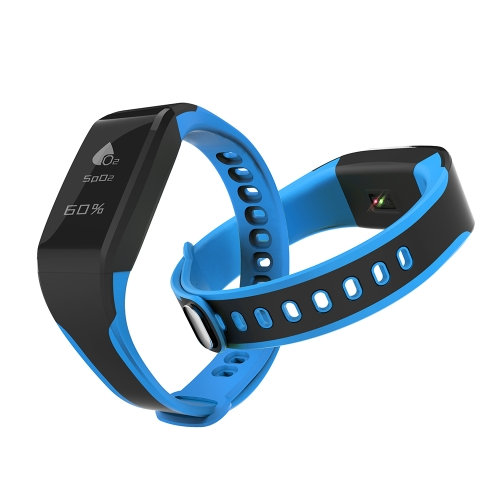 Smart Wristband Fitness Tracker 0.96in Pantalla táctil OLED BT 4.0 NORDIC CPU Smart Band / Banda de reloj Monitorización del oxígeno sanguíneo Monitorización del ritmo cardíaco Podómetro Smart Bracelet / Reloj para iOS 8.0 y Android 4.4