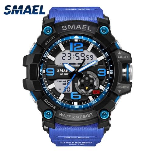 Men's Stylish Sports Multi-function Electronic Watch impermeabile Dual Display da polso
