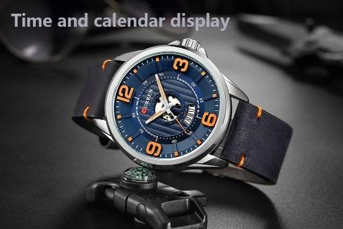 Часы Curren Модные мужские наручные часы Кварц Мужские наручные часы Relogio Masculino фото