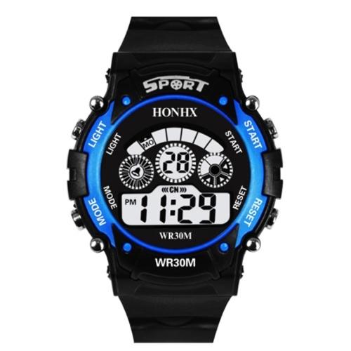 子供デジタルウォッチ防水屋外LED豪華なアラーム日付スポーツ学生自動機械ギフト多機能腕時計