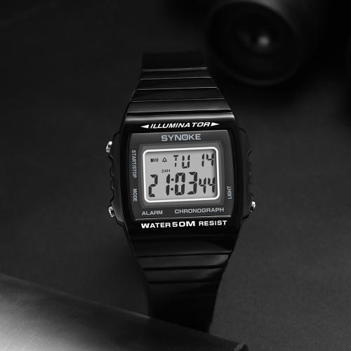 Image of SYNOKE 9708 Sport Watch Fashion Watch LED Digital Alarm Luminous Stopwatch Timing Waterproof Sport Band