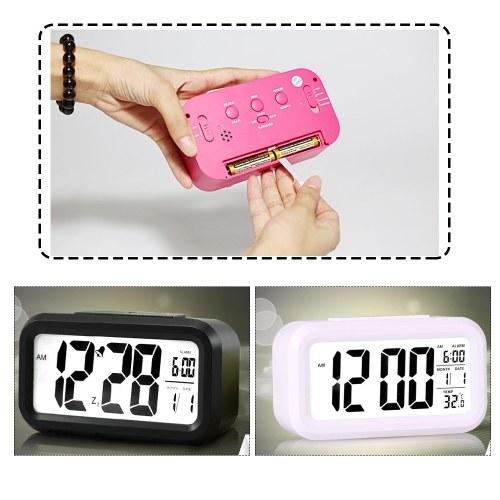 Детские прикроватные часы Smart Nightlight Table Электронные часы Большой экран Цифровые часы фото
