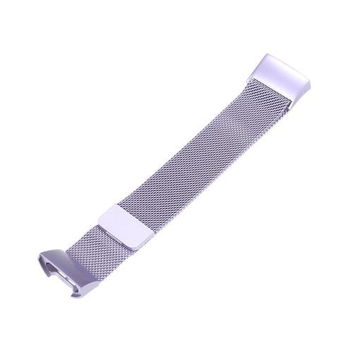 Cinturino per orologio da uomo traspirante in acciaio inossidabile con cinturino in metallo per Fitbit Charge 3 e carica 3 SE
