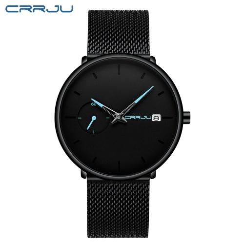 CRRJU Men Watch relógios à prova d'água para homens