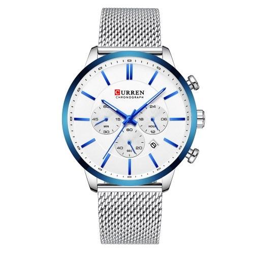 Curren 8340 homem relógio homem esporte relógio homem à prova d 'água ao ar livre relógio de pulso homem relógio homem cronógrafo de quartzo relógio de negócios relógio masculino para homens