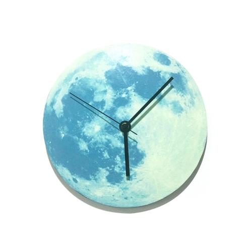 300mm Glowing Moon Wall Clock фото
