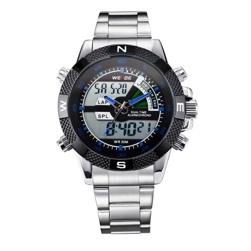WEIDE WH1104 Reloj digital de cuarzo con dos movimientos y pantalla dual