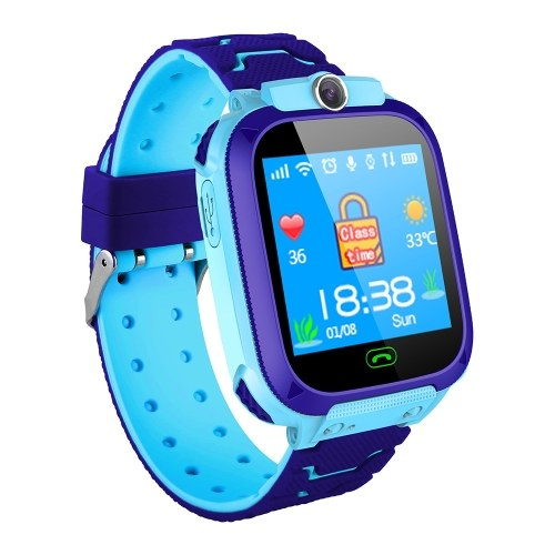 1.44'' Kids Smart Watch LBS Tracker SOS Call 2-Way Call Voice Chat Security Zone Setting Flashlight Waterproof Children Phone Watch Smartwatch Phone for Boys Girls