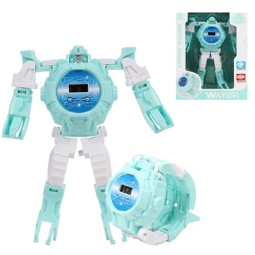 Orologio da robot per bambini Deformation Robot Toys Orologio digitale per regalo da ragazza
