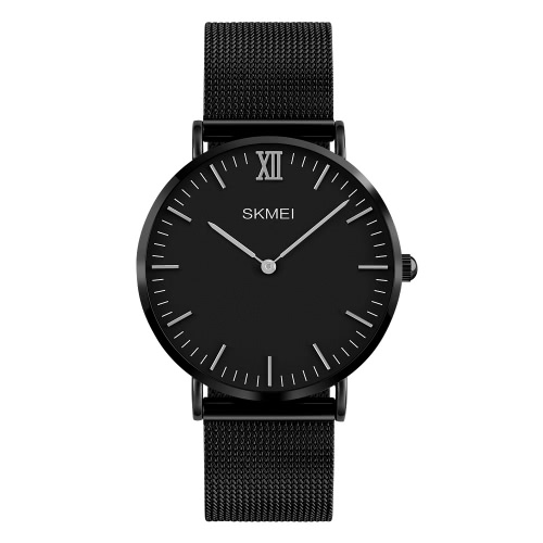 SKMEI 3ATM Resistente al Agua Moda Casual Watch Quartz Lover Reloj de acero inoxidable Reloj Hombres Mujeres