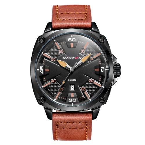 RISTOS 2017 Fashion Luminous Sports Mężczyźni Mężczyźni Zegarki kwarcowe Wodoodporny Mężczyzna Casual Zegarek na rękę Masculino Relogio + Box