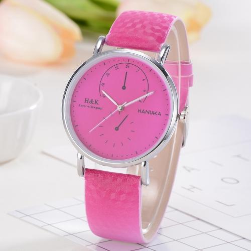 Moda Classic Multi-dial increíble reloj de cambio de color de la luz del sol de cuarzo reloj de pulsera de las mujeres al aire libre