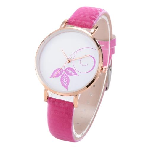 Moda simple reloj cambio de color luz del sol hermosa flor patrón cuarzo reloj mujeres accesorio