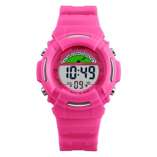 SKMEI Children Sport reloj digital 5ATM resistente al agua Kids Watches contraluz reloj de pulsera con alarma