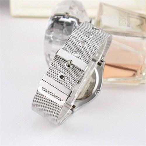 Image of Persönlichkeit Vortex Konzept Uhr Ohne Zeiger Strass Moderne Armbanduhr Trend Sport Schwarz Armbanduhr Paar Uhren für Männer Frauen (Rose Red)