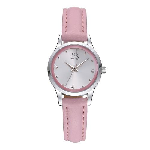 SK Brand Luxury Diamond Quartz Mulheres relógios casuais
