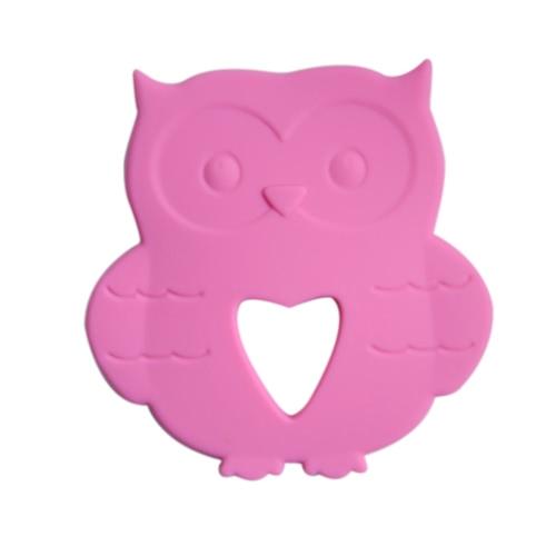 BPA libre de alimentos de grado de silicona niño pequeño juguete de dentición para el bebé Teether masticar accesorio de dentición collar