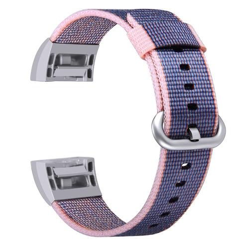 Mode Bunte Nylon Uhrenarmband für Fitbit Ladung 2 18mm Armband Armband Dornschließe Ersatz Band