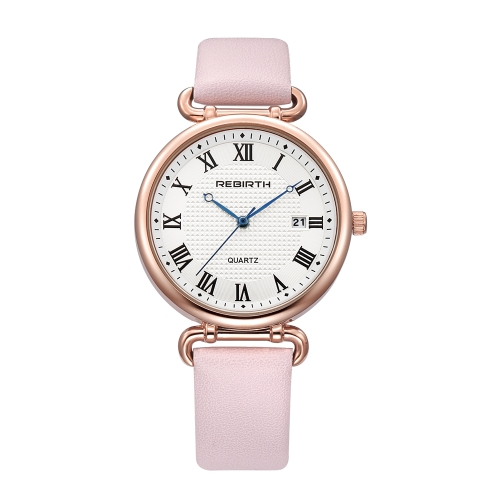 REBIRTH Fashion Women Watches 1ATM resistente al agua de cuarzo casual Simple Woman reloj de pulsera